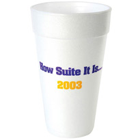 20 oz Custom printed foam cup