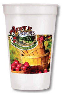 17 oz Imprinted Full Color Smooth Stadium Cup