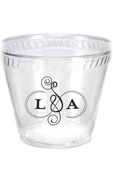 Clear Disposable Printed Cups