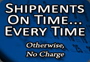 Stadium Cup Shipments On Time, Everytime. Otherwise No Charge.